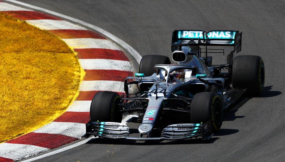 Lewis Hamilton, en el circuito de Canadá