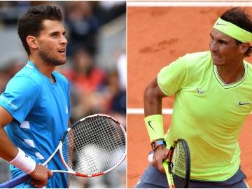 Dominic Thiem y Rafa Nadal