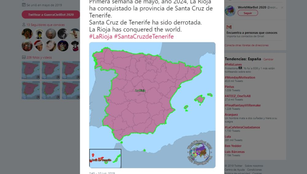 La Rioja gana GuerraCivilBot 2020