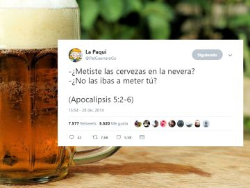 Tuits sobre cerveza