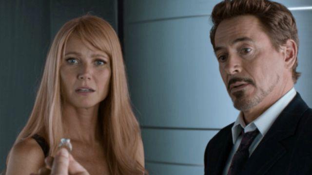 Gwyneth Paltrow y Robert Downey Jr. en 'Iron Man'