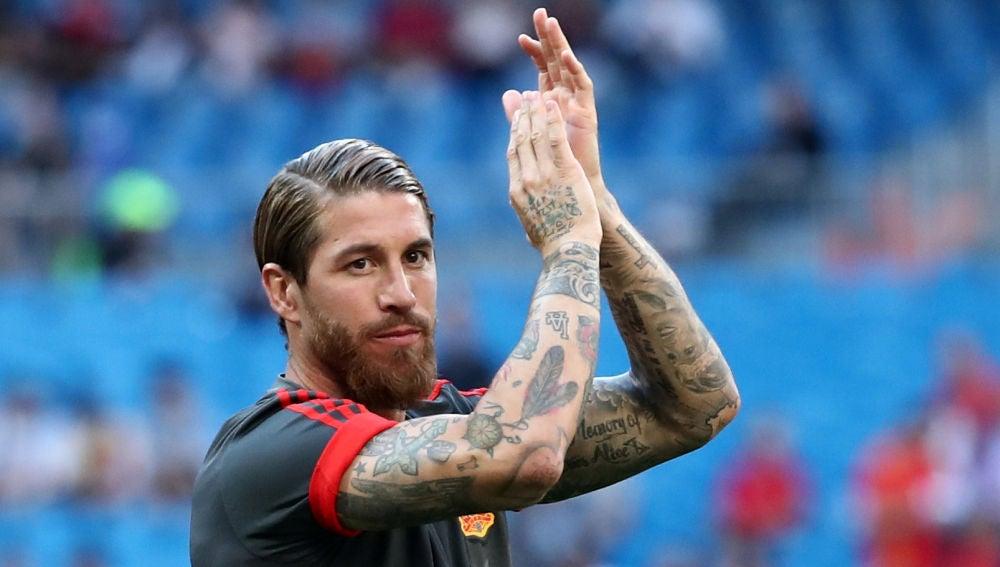 Sergio Ramos agradece el cariño a los aficionados