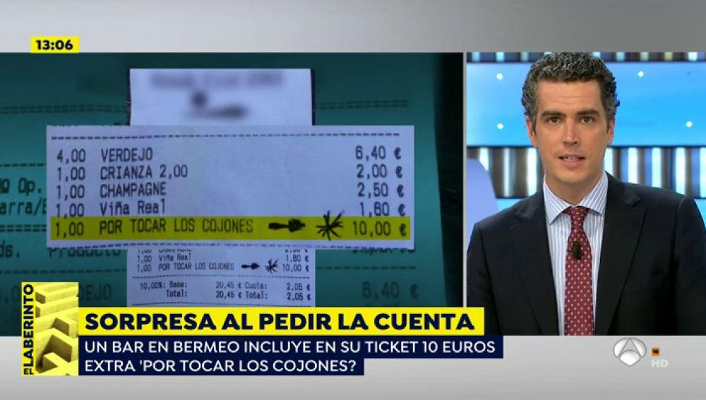 '10 euros por tocar los cojones'