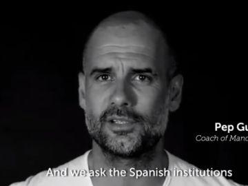 Pep Guardiola, en un vídeo de Òmnium