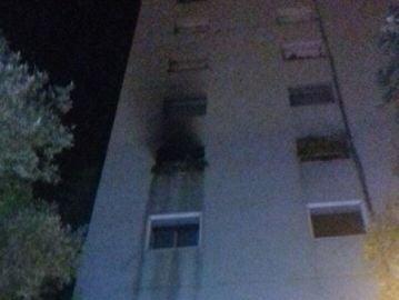 Fachada del edificio calcinado