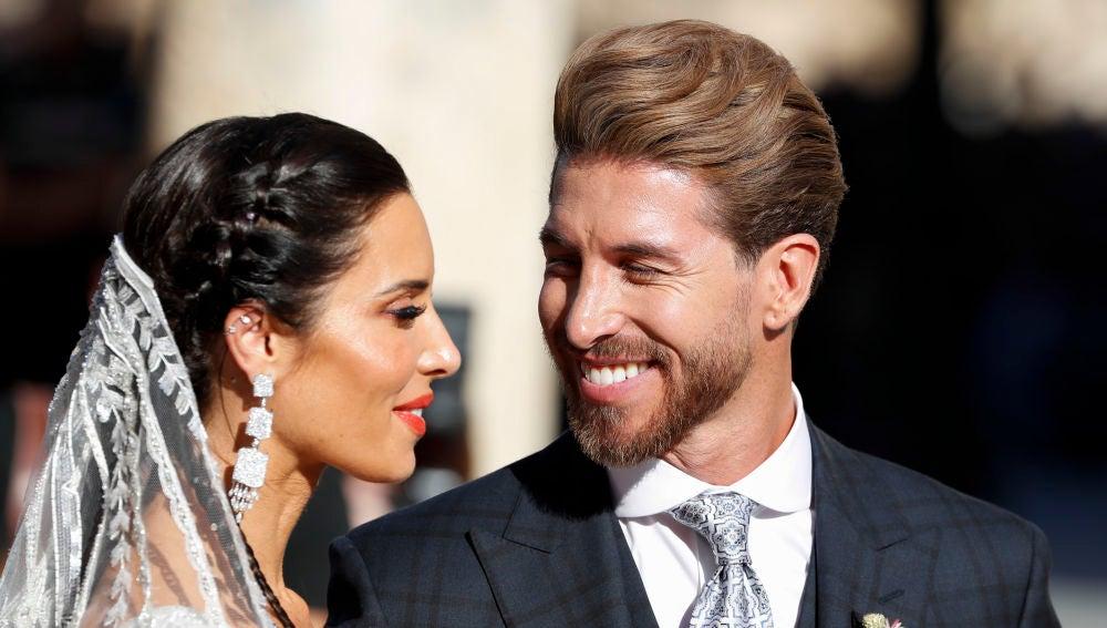Pilar Rubio y Sergio Ramos en su boda