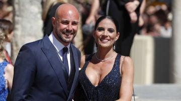 Pepe Reina, en la boda de Sergio Ramos y de Pilar Rubio