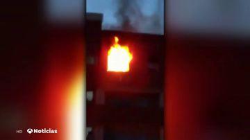 Muere una mujer de 88 años en el incendio de un edificio en Terrassa