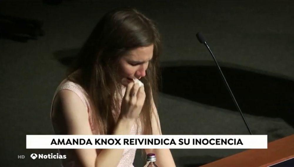Las lágrimas impiden a Amanda Knox lanzar su mensaje reivindicando su inocencia doce años después
