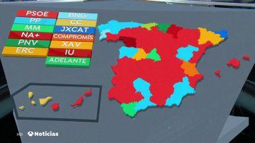 REEMPLAZO | El mapa de los ayuntamientos en España: el bloque de derechas recupera el poder tras sus acuerdos