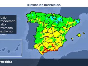 La falta de humedad aumenta las probabilidades de que se produzcan incendios en España