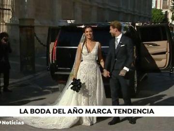 El ramo de flores de Pilar Rubio puede marcar tendencia en futuras bodas