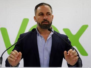 Santiago Abascal ante los medios (Archivo)