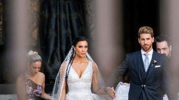 Imagen de Pilar Rubio y Sergio Ramos el día de su boda