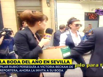 El día que Pilar Rubio corrió detrás de Victoria Beckham mientras ella la ignoraba