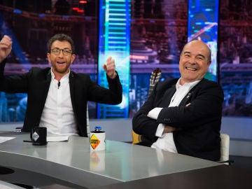 """""""Broncano, el que le sudan las manos"""", el 'recado' de Pablo Motos y Antonio Resines en 'El Hormiguero 3.0'"""