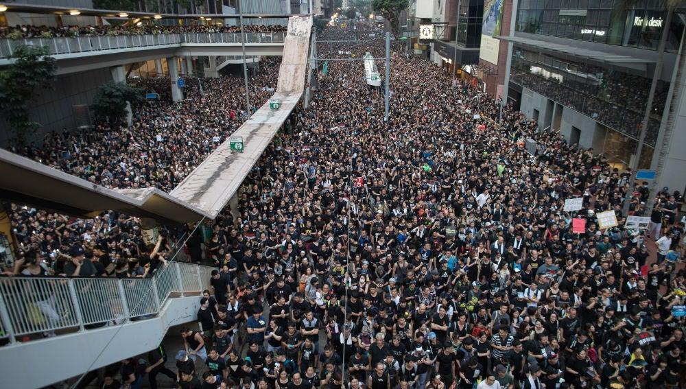 Protestas en las calles de China