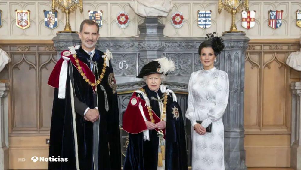 El Rey Felipe VI es investido caballero de la Orden de la Jarretera por la Reina Isabel II