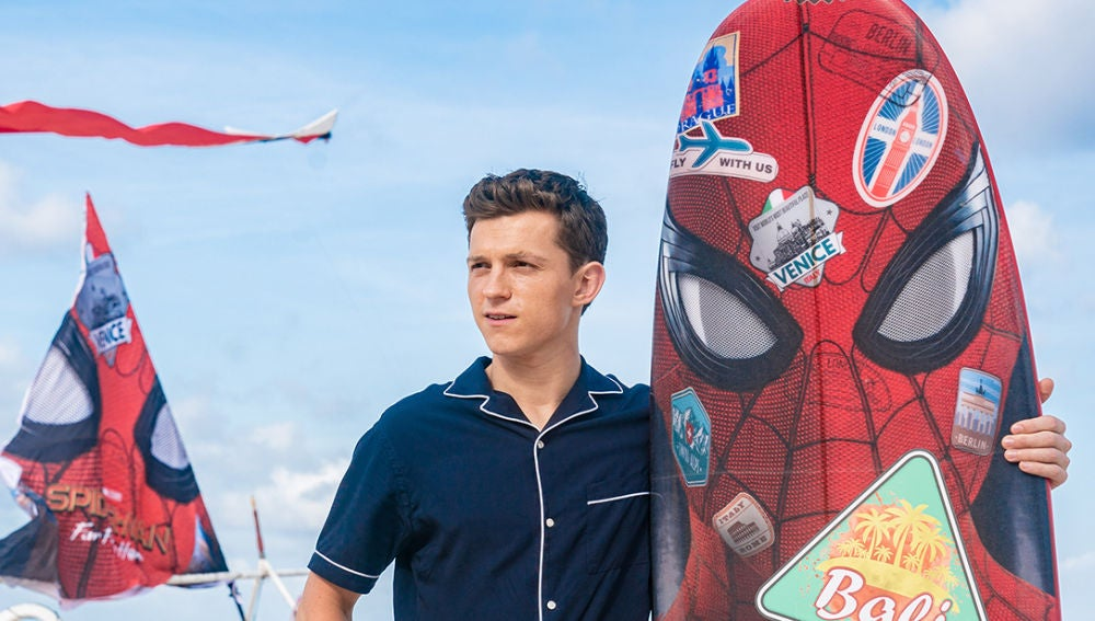 Tom Holland en un evento promocional de 'SpiderMan: Lejos de casa'