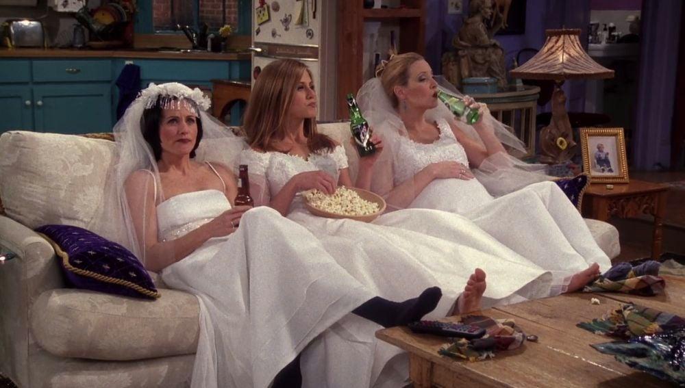 Monica, Rachel y Phoebe en 'Friends'