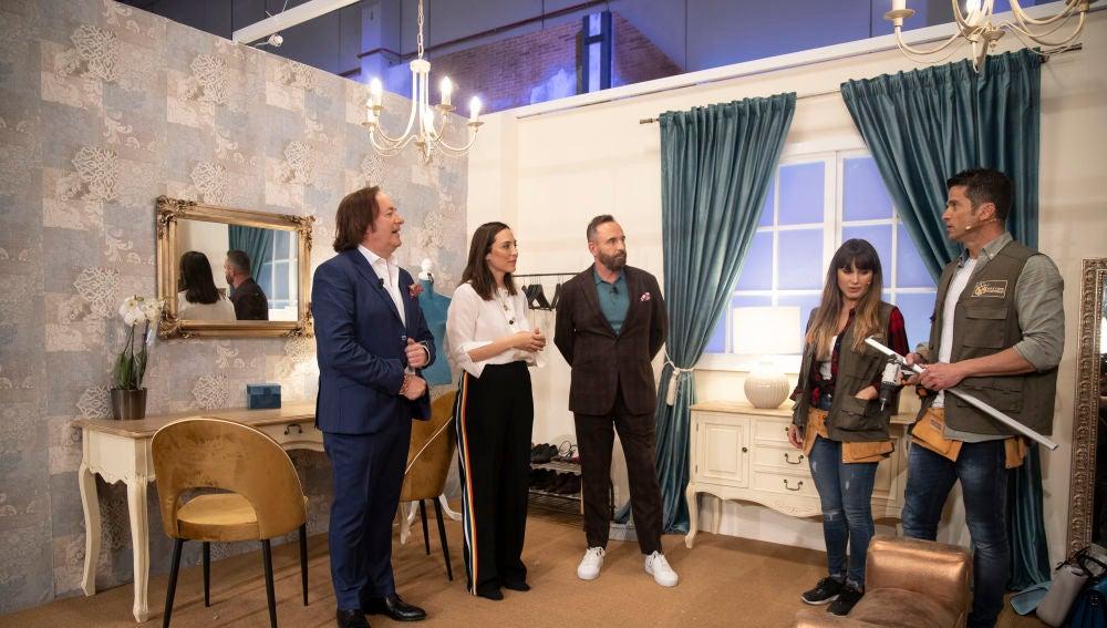 La visita de Tamara Falcó y la prueba del vestidor, en el making of del séptimo programa de 'Masters de la reforma'