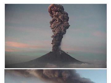 Alerta en México por la erupción del volcán Popocatépetl.