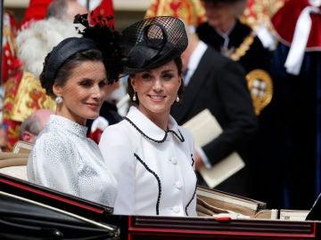 Kate Middleton y la reina Letizia