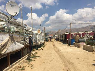 Campo de refugiados de Ghazze, en la cuidad de Zalhe
