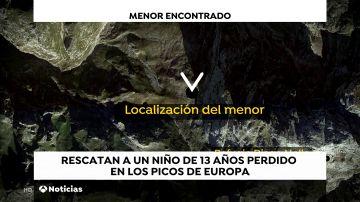 Aparece en buen estado el niño de 13 años desaparecido en los Picos de Europa