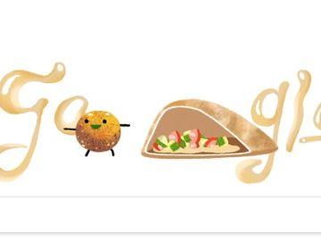 Doodle interactivo por el día internacional del Falafel