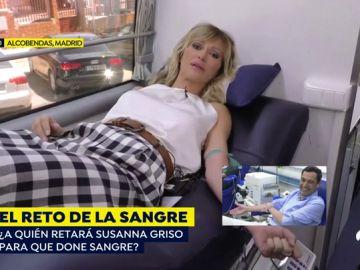 Susanna Griso dona sangre