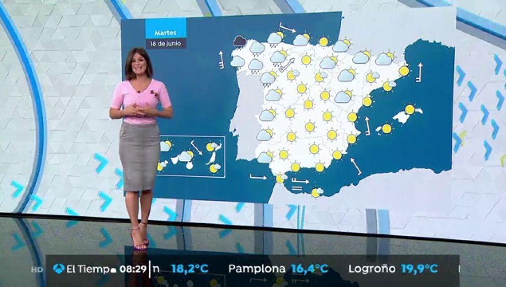 Sigue el calor por encima de los 30 grados, con lluvias fuertes en Galicia