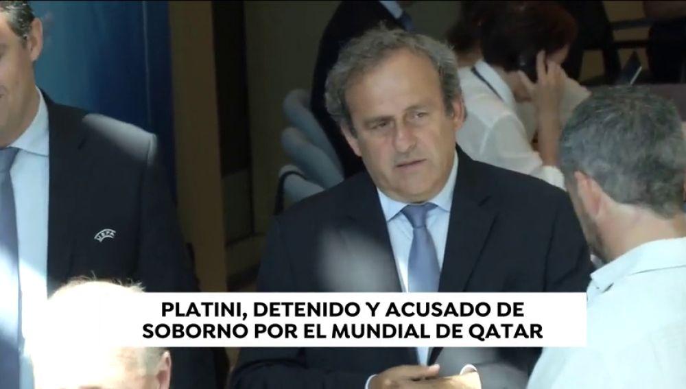Michel Platini, detenido en Nanterre por la adjudicación del Mundial 2022 a Catar