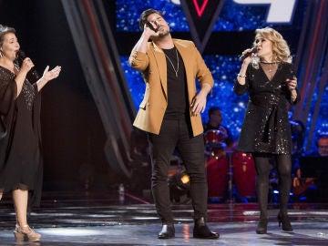 Semifinal: David Bustamante canta 'Desde que te vi' con Enriqueta Caballero y Helena Bianco en 'La Voz Senior'