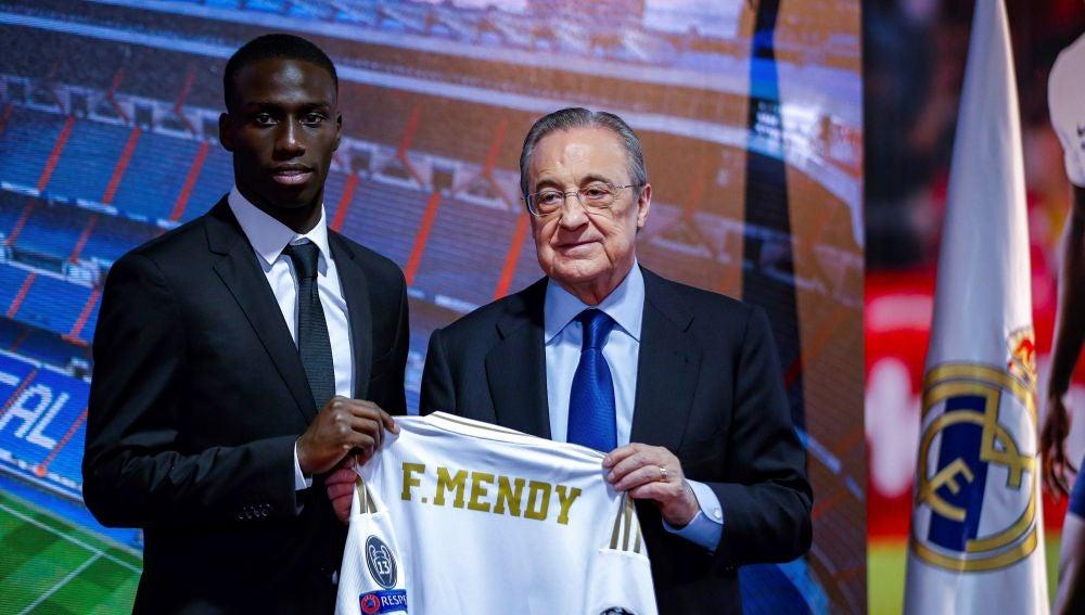 Ferland Mendy, en su presentación con el Real Madrid