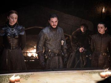Sansa, Jon Snow, Bran y Arya en 'Juego de Tronos'