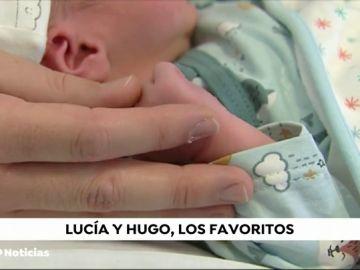 Lucía y Hugo, los nombres más elegidos para los nacidos en 2018