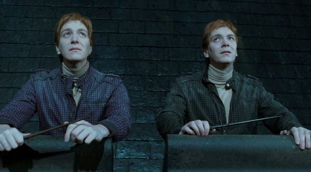 Fred y George Weasley en 'Harry Potter'