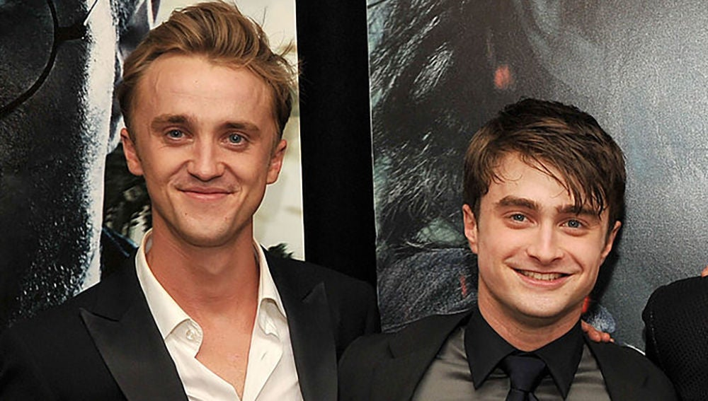 Tom Felton junto a Daniel Radcliffe