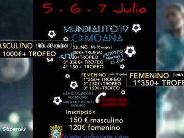 Polémica machista en Galicia por la diferencia en los premios de un torneo de fútbol 7 entre chicos y chicas