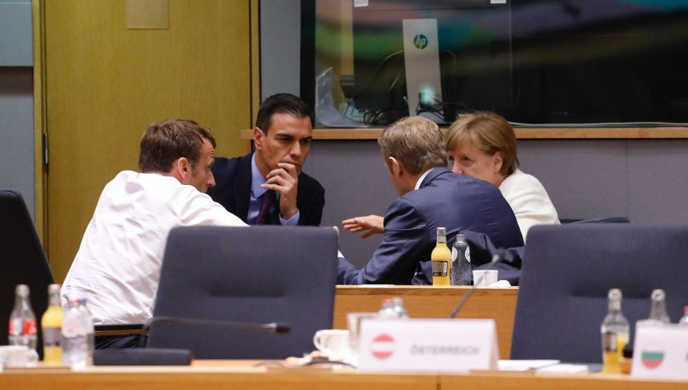 Sánchez, Macron, Tusk y Merkel