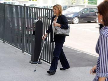 María Dolores de Cospedal a su llegada a los Juzgados de lo Penal de Madrid