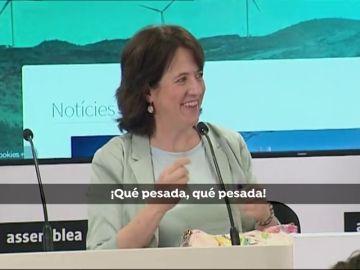 La presidenta de la Asamblea Nacional Catalana, Elisenda Paluzie