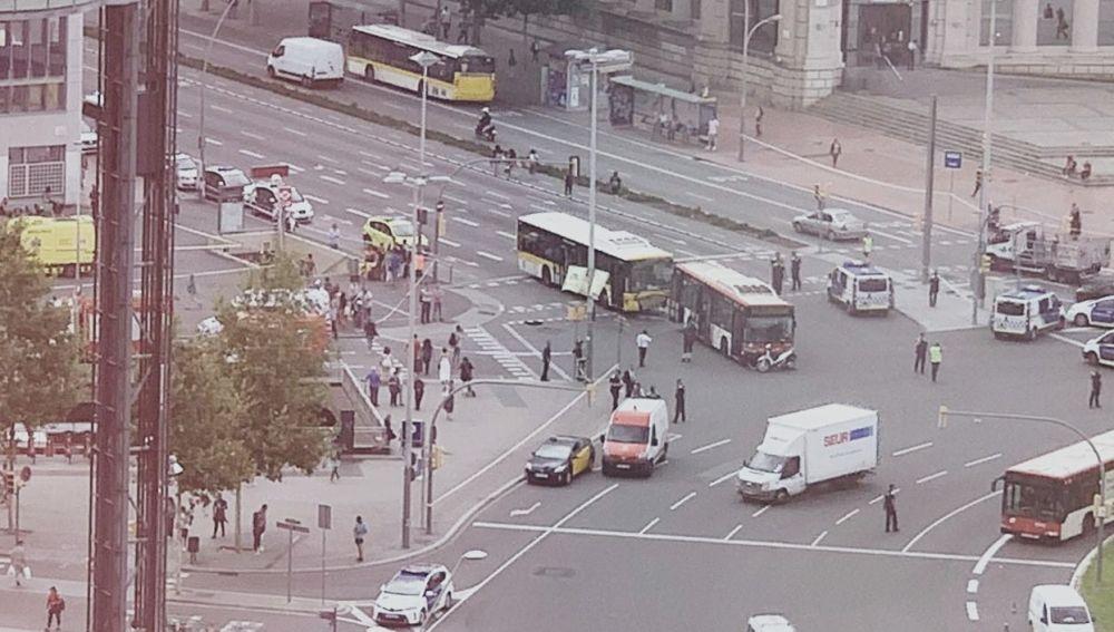 Accidente en Barcelona