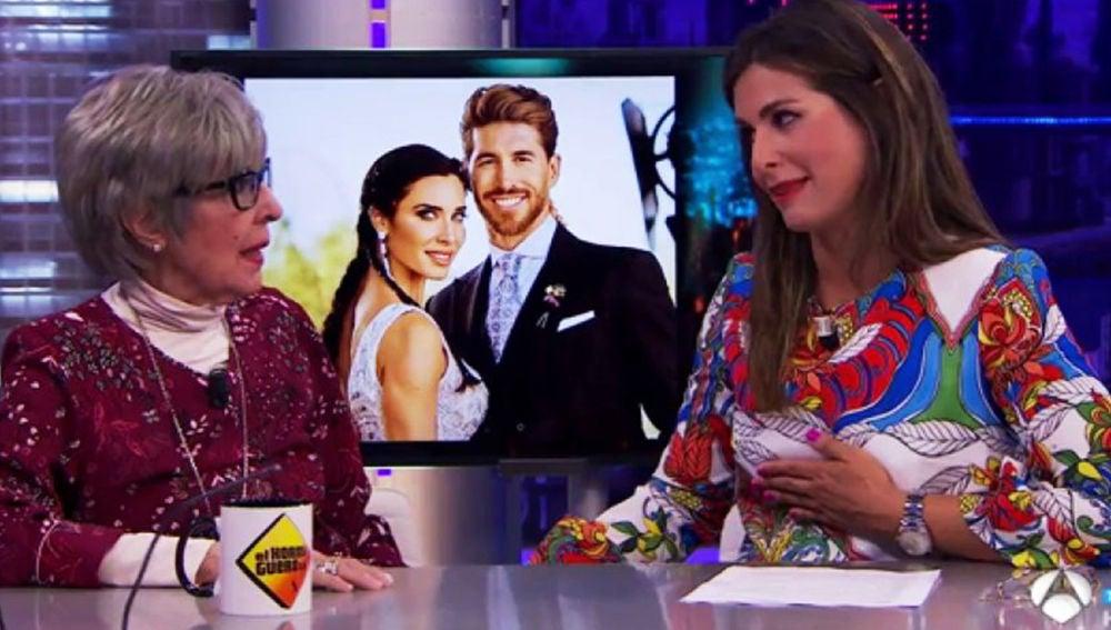 Nuria Roca confiesa en 'El Hormiguero 3.0' el verdadero motivo de la prohibición de colores en la boda de Pilar Rubio y Sergio Ramos