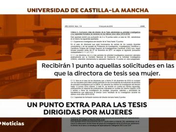 La Universidad de Castilla-La Mancha premiará con un punto a las tesis dirigidas por mujeres