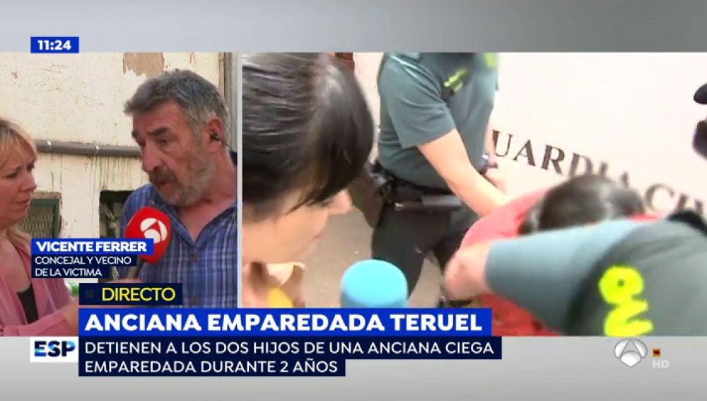 Anciana emparedada en Teruel.