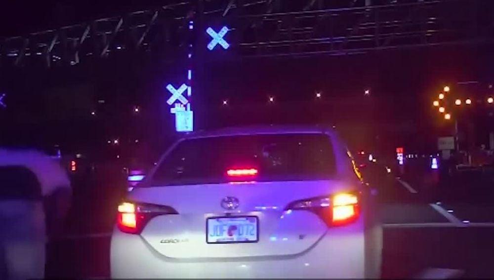 El coche que escapó del control policial