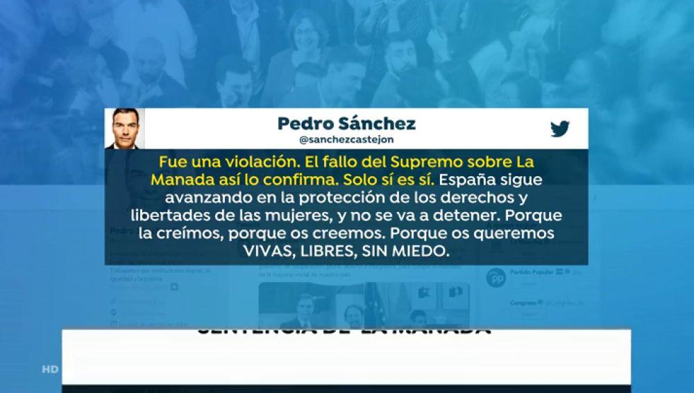"""Los principales partidos políticos celebran que se eleve la condena a La Manada: """"Fue una violación"""""""