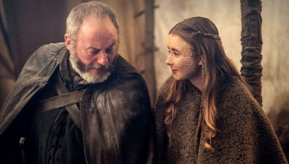 Ser Davos y Shireen Baratheon
